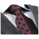 Men's Fashion Red Plaid Half Black Silk Neck Tie