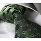 Men's Fashion Green Black Checkers Tie Silk Neck Tie Gift Box