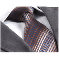 Men's jacquard Brown Knitted Premium Neck Tie With Gift Box - Amedeo Exclusive