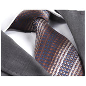 Men's Fashion Brown Knitted Neck Tie Gift box - Amedeo Exclusive