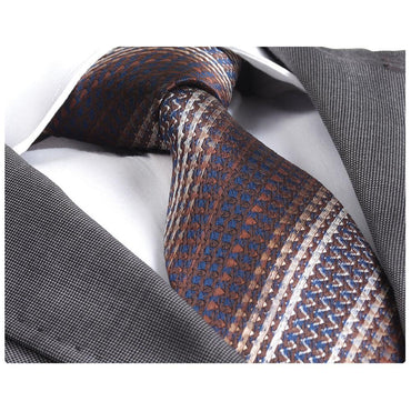 Men's Fashion Brown Knitted Neck Tie Gift box