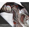 Woven Silk Men's Brown Paisley Premium Neck Tie With Gift Box - Amedeo Exclusive