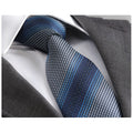 Men's Fashion 3 Blue Shades Tie Silk Neck Ties Gift Box