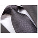 Men's jacquard Charcoil Grey Check Premium Neck Tie With Gift Box - Amedeo Exclusive