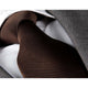 Men's jacquard Solid Brown Lines Premium Neck Tie With Gift Box - Amedeo Exclusive