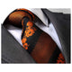 Men's jacquard Orange Black Premium Neck Tie With Gift Box - Amedeo Exclusive