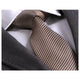 Men's Fashion Gold Brown Herringbone 100% Jacquard Silk Neck Tie Gift Box