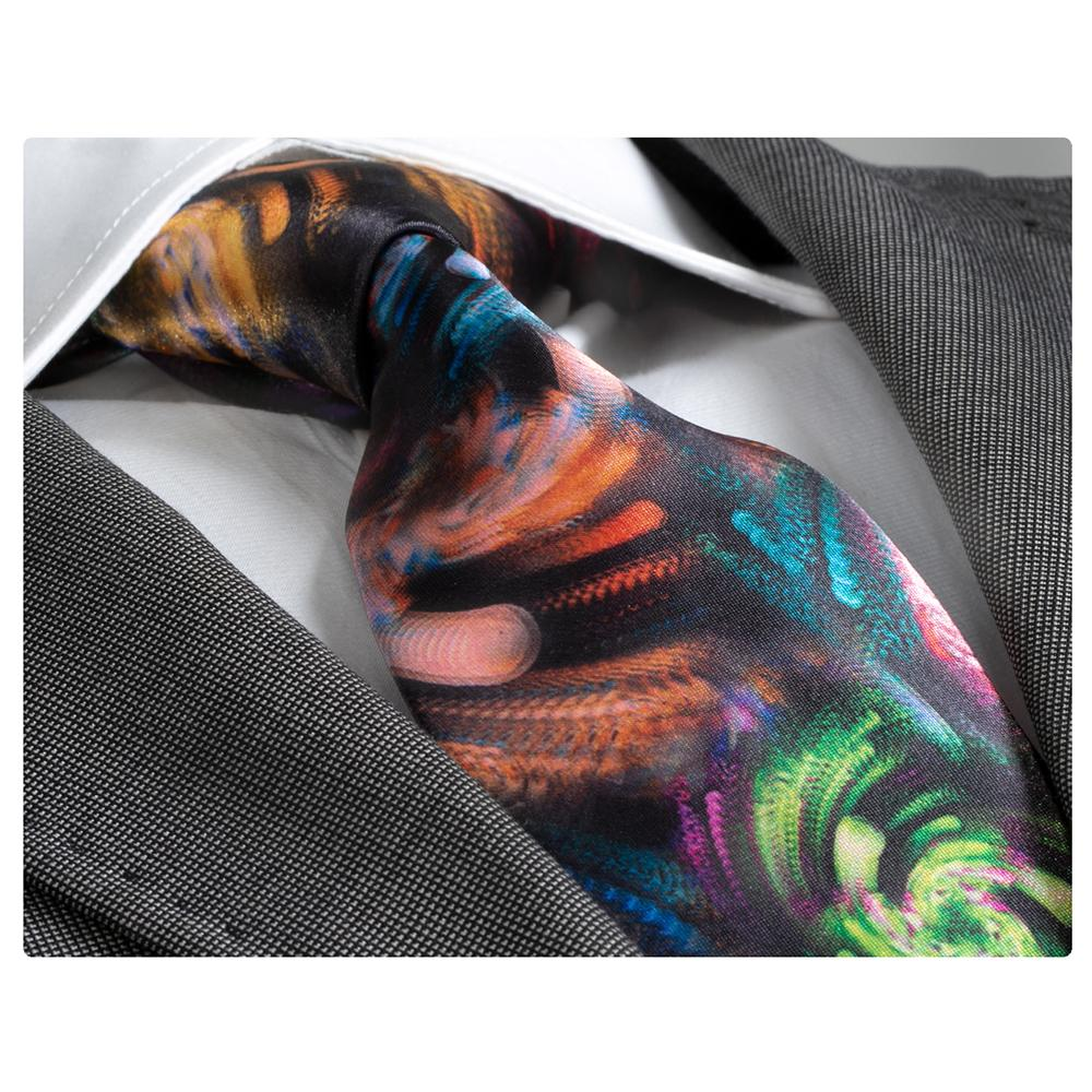 Men's Fashion Multi Colored Silk Neck Tie Gift Box