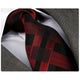 Men's jacquard Red Black Check Premium Neck Tie With Gift Box - Amedeo Exclusive