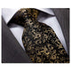 Men's Fashion Black Gold Silk Neck Tie Gift Box - Amedeo Exclusive