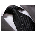 Men's jacquard Black White Premium Neck Tie With Gift Box - Amedeo Exclusive