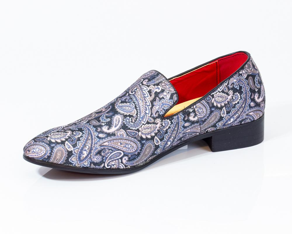Premium Multicolor Floral Loafers for men designer slip on casual / dress shoes – Luxury Leather - Amedeo Exclusive