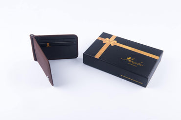 Leather Wallets Brown2 -AMLW-0004 - Amedeo Exclusive