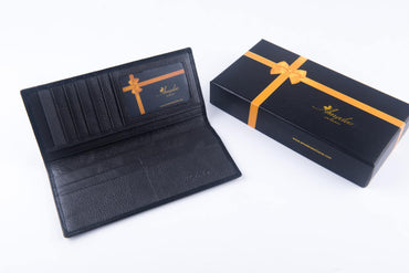 Leather Wallets Black3 -AMLW-0005 - Amedeo Exclusive