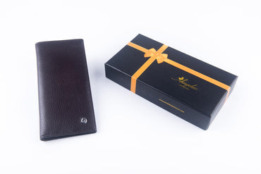 Leather Wallets Brown3 -AMLW-0006 - Amedeo Exclusive