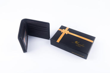 Leather Wallets Dark Brown -AMLW-0012 - Amedeo Exclusive