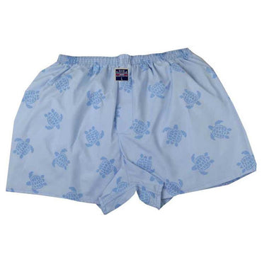 Mens Blue Turtles Cotton Boxer Brief Underwear