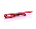 Men's Red Shiny Metallic Stainless Steel Tie Clips - Amedeo Exclusive