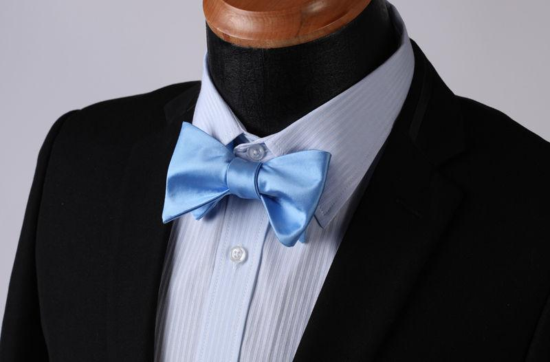 New Men's self Bow Tie Matching Pocket Handkerchief