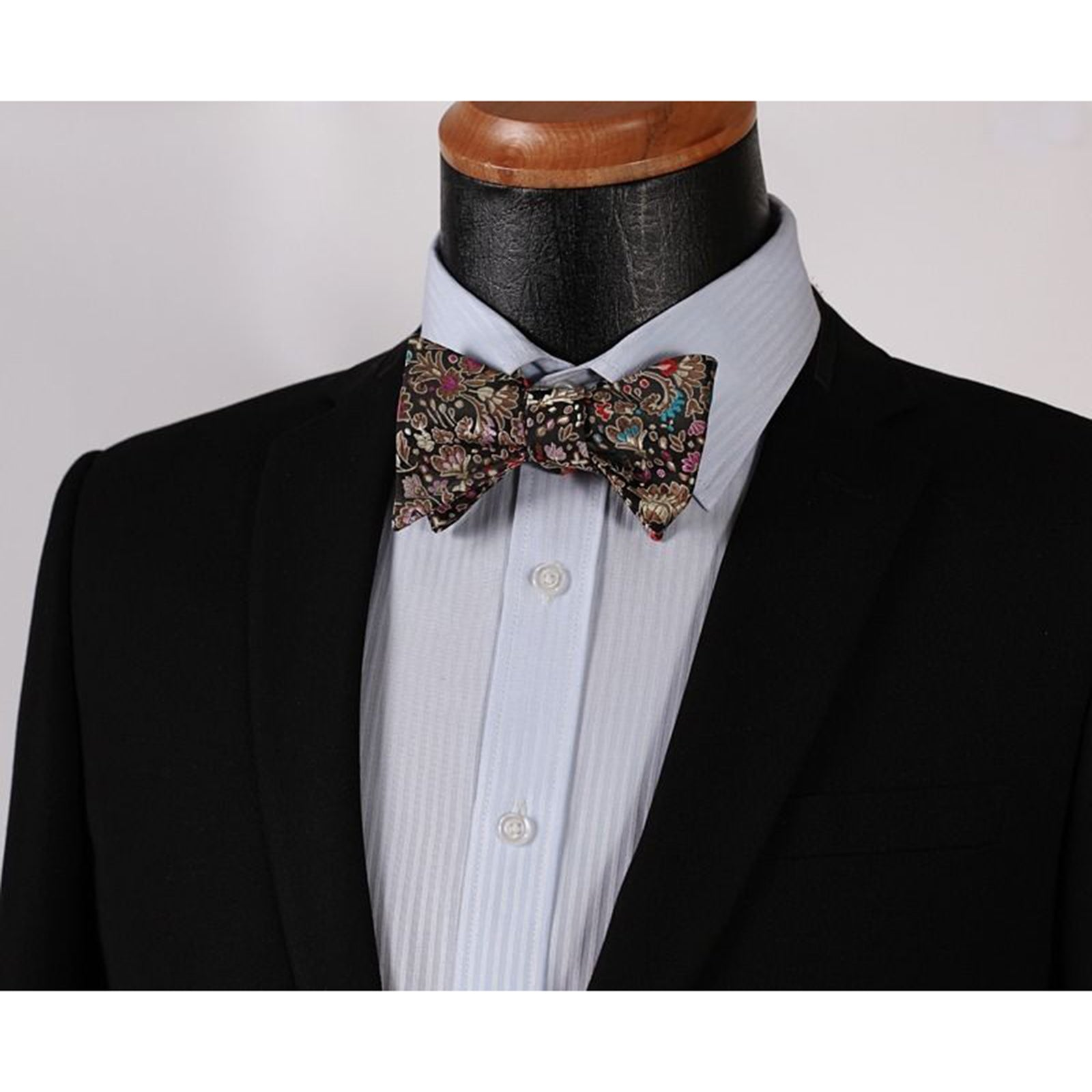 Men's Silk Self Bow Tie Handkerchief - Amedeo Exclusive
