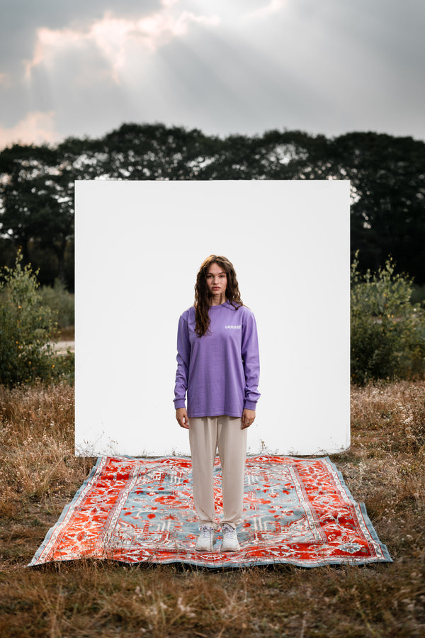 Long Sleeve Tee 'Retro' - Lavender