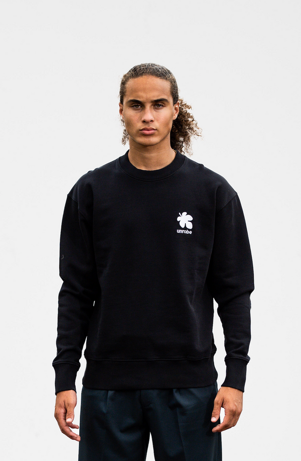 Fig Leaf Crew Neck - Black