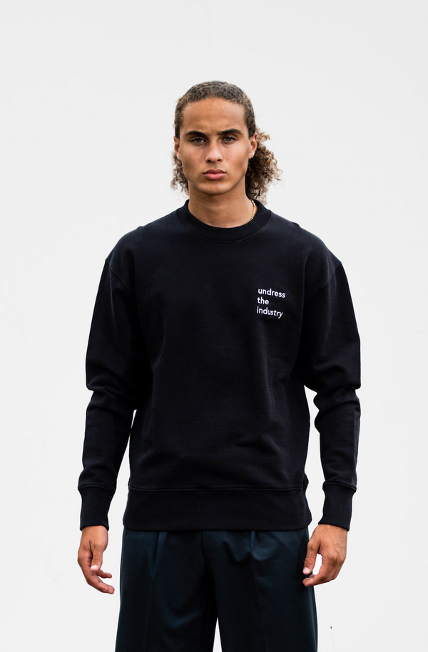 Crew Neck 'Undress The Industry' - Black