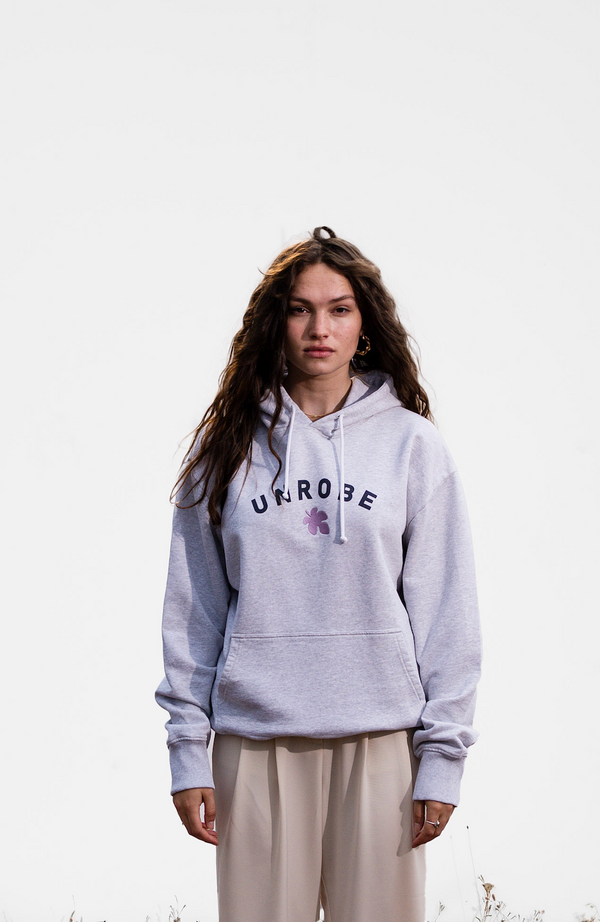 Fig Leaf Hoodie - Heather Grey