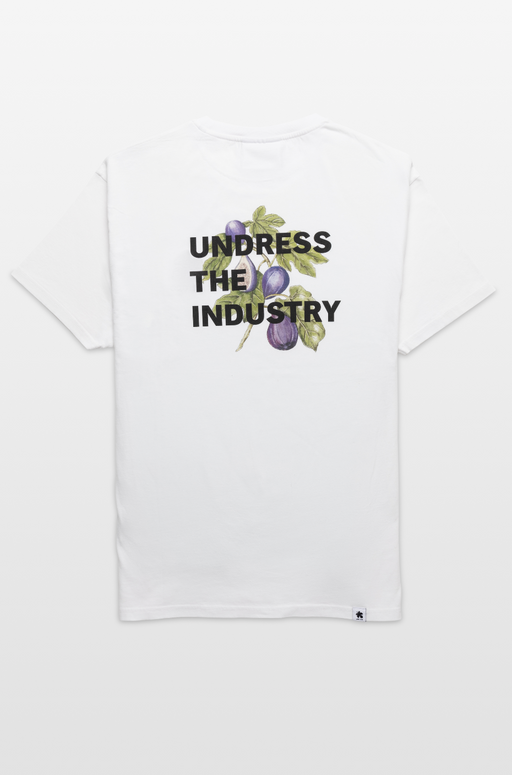 Undress The Industry Tee - White