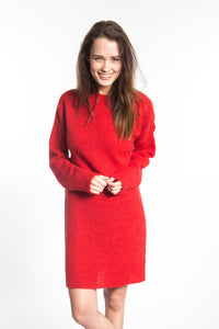 the jacky dress high risk red