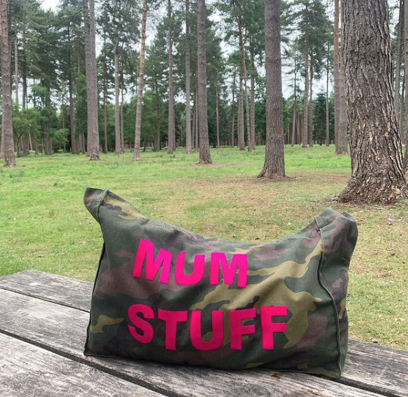READY TO POST MUM STUFF CAMO TOTE