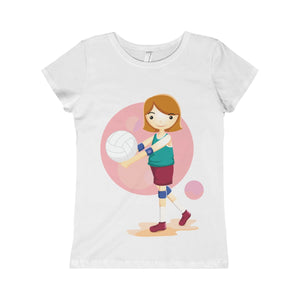 Volleyball Girls Princess Tee-Kids clothes-PureDesignTees
