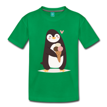 Load image into Gallery viewer, Penguin Having Ice Cream Kids' Premium T-Shirt-Kids' Premium T-Shirt-PureDesignTees