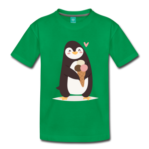 Penguin Having Ice Cream Kids' Premium T-Shirt-Kids' Premium T-Shirt-PureDesignTees