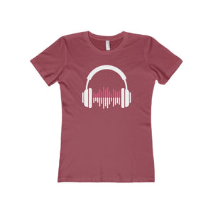 Music Lover Women's The Boyfriend Tee-T-Shirt-PureDesignTees