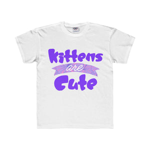 Kittens are Cute Kids Regular Fit Tee-Kids clothes-PureDesignTees