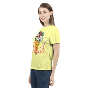 Fresh on Soft Yellow Ground Women's Tee-cloth-PureDesignTees
