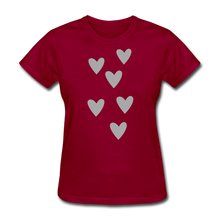 Load image into Gallery viewer, Heart Women's T-Shirt-Women's T-Shirt-PureDesignTees