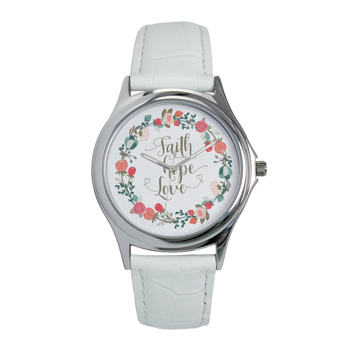 faith hope love watch for ladies-PureDesignTees