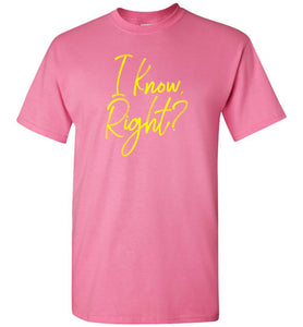I Know Right? Youth Short-Sleeve T-Shirt-T-Shirt-PureDesignTees