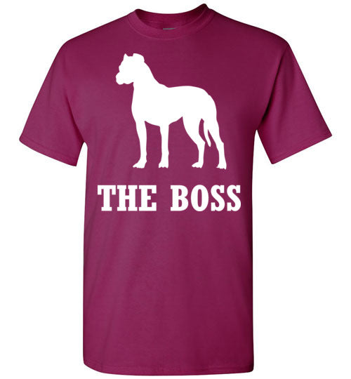 Boxer is the Boss Dog Lover Short-Sleeve T-Shirt-T-Shirt-PureDesignTees