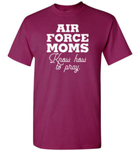 Load image into Gallery viewer, Air Force Moms Know How to Pray Short-Sleeve T-Shirt-T-Shirt-PureDesignTees
