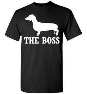 Dachshund is the Boss Short-Sleeve T-Shirt-PureDesignTees