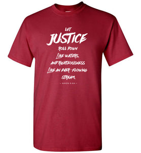 Let Justice Roll Down Short-Sleeve T-Shirt-T-Shirt-PureDesignTees