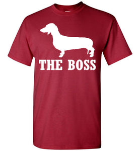 Dachshund the Boss Youth Short-Sleeve T-Shirt-T-Shirt-PureDesignTees