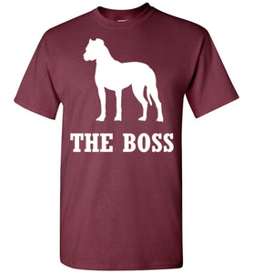 Boxer is the Boss  Dog Lover Short-Sleeve T-Shirt - PureDesignTees