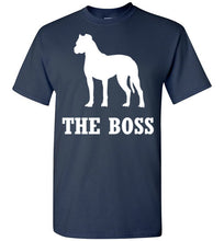Load image into Gallery viewer, Boxer is the Boss Dog Lover Short-Sleeve T-Shirt-T-Shirt-PureDesignTees