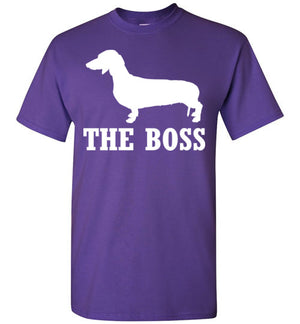 Dachshund is the Boss Short-Sleeve T-Shirt - PureDesignTees