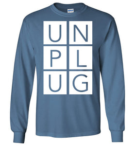 Unplug Long-Sleeve T-Shirt-Long sleeve t-shirt-PureDesignTees