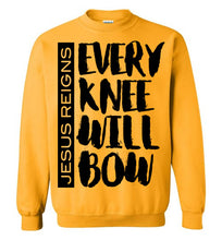 Load image into Gallery viewer, Every Knee Will Bow-Long sleeve t-shirt-PureDesignTees